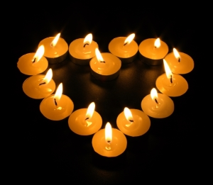 heart of candles